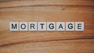 The word mortgage written on small block pieces
